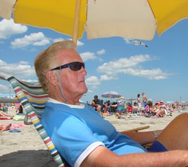Long-time Ocean City NJ resident on the beach